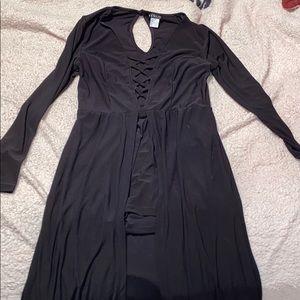 Venus lace up chest romper dress